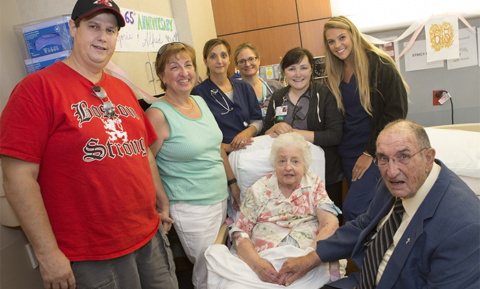 Couple Renews Wedding Vows at Winchester Hospital