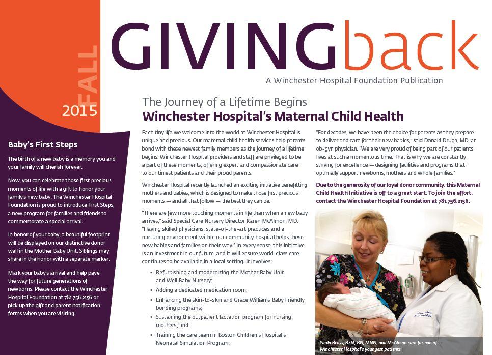 Giving Back October 2015